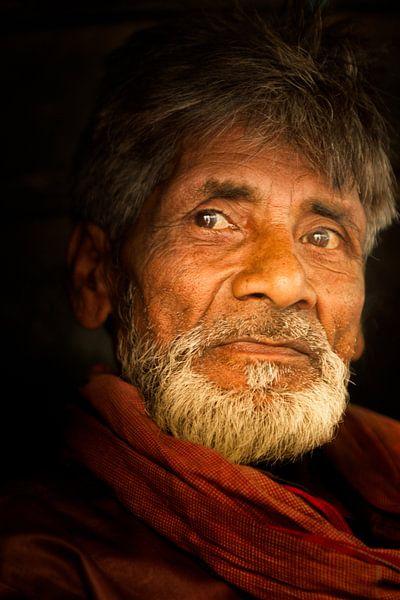 Portrat van een indiase man van Paul Piebinga