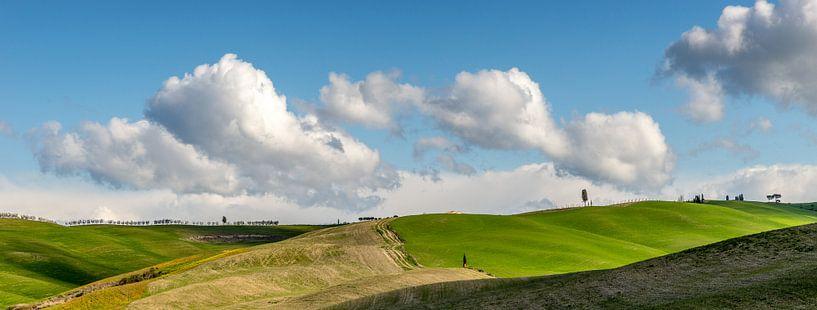 Toscaans landschap van mike van schoonderwalt