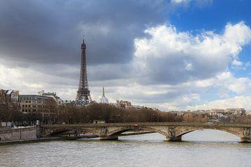 Rivier Seine met Eiffeltoren van Dennis van de Water