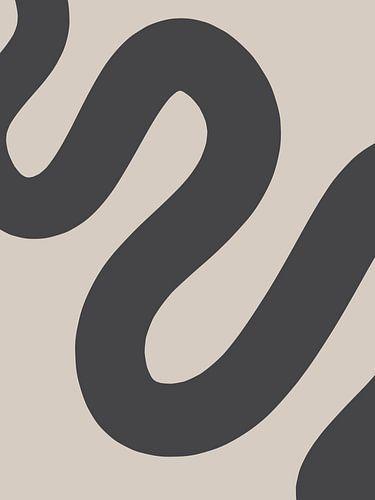 Curvy Line - Minimalistische Print