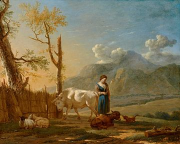 Landschap met herderin, Karel Dujardin