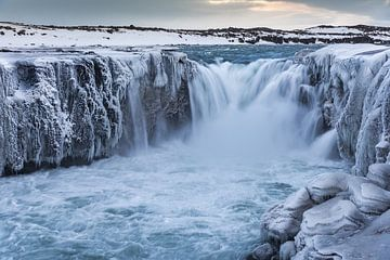 Selfoss waterfall van