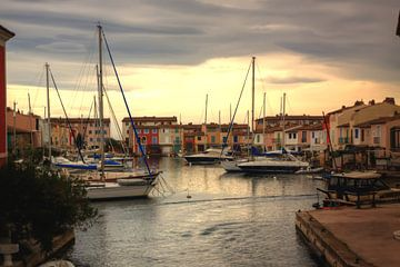 Boten in een haven in Italie van Margriet Hulsker
