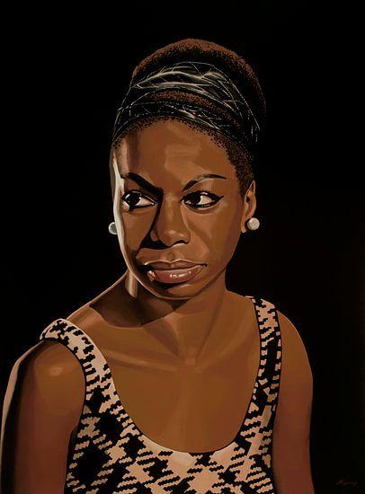Nina Simone Schilderij 2 van Paul Meijering