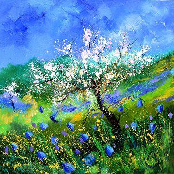 Apfelblüte und Heidelbeeren von pol ledent
