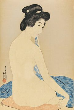 Frau nach ihrem Bad - Hashiguchi Goyo, 1920