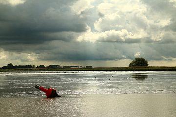 Een dramatische hemel boven de Elbe van Christiane Schulze