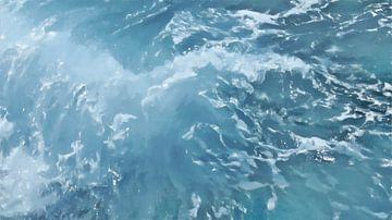 Golfslag op Zee - Schilderij
