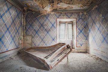 Piano dans la poussière sur Perry Wiertz
