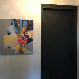 Klantfoto: Coco van Atelier Paint-Ing, op aluminium