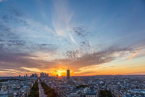 La Défense at sundown