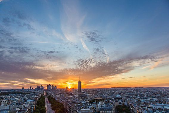 La Défense bij zonsondergang van Melvin Erné