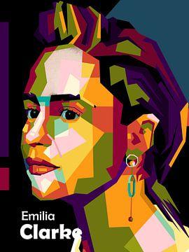 Emilia Clarke in popart van miru arts