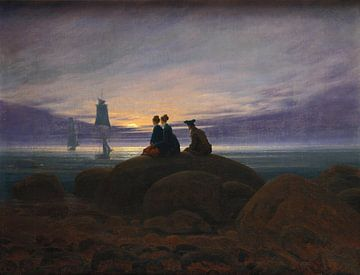 Caspar David Friedrich - Moonrise at the sea sur