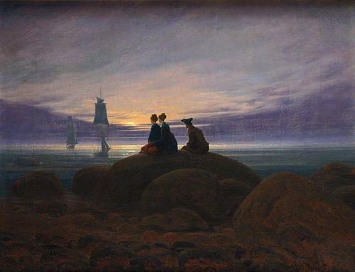 Caspar David Friedrich - Maanopkomst bij de zee van 1000 Schilderijen