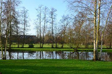 Blick über die Länder bei Kornhorn, Groningen von Mark van der Werf