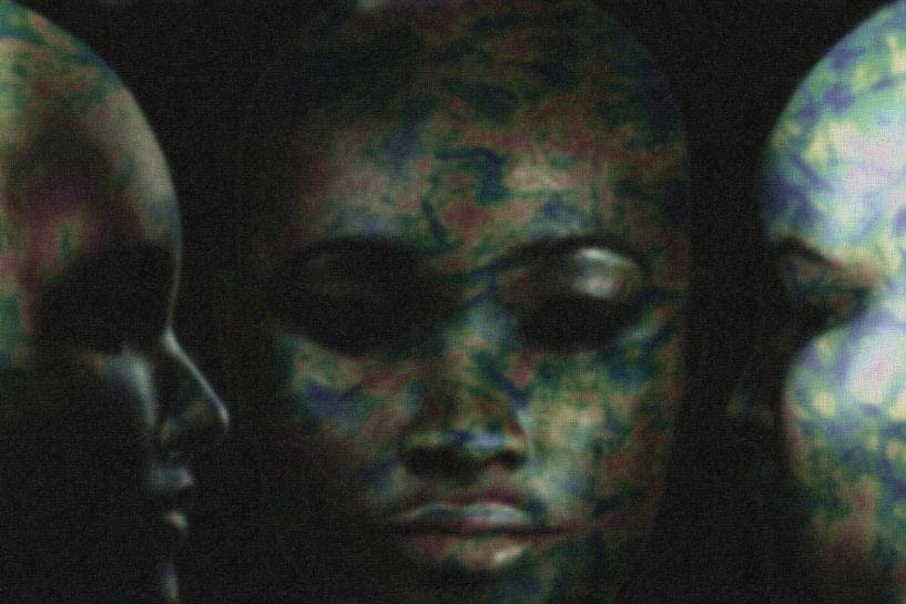 Abstract portret drie vrouwen van Maurice Dawson