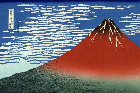 Das Rote Fuji, Japan - Katsushika Hokusai von Roger VDB