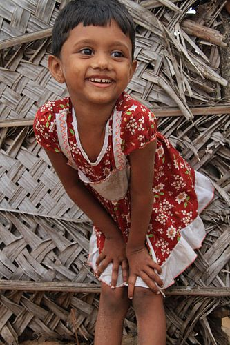 Little girl in Sri Lanka van