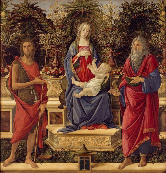 Sandro Botticelli - Madonna with Saints van 1000 Schilderijen