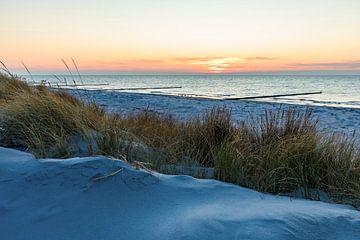 Strand van Vitte op het eiland Hiddensee van Werner Dieterich