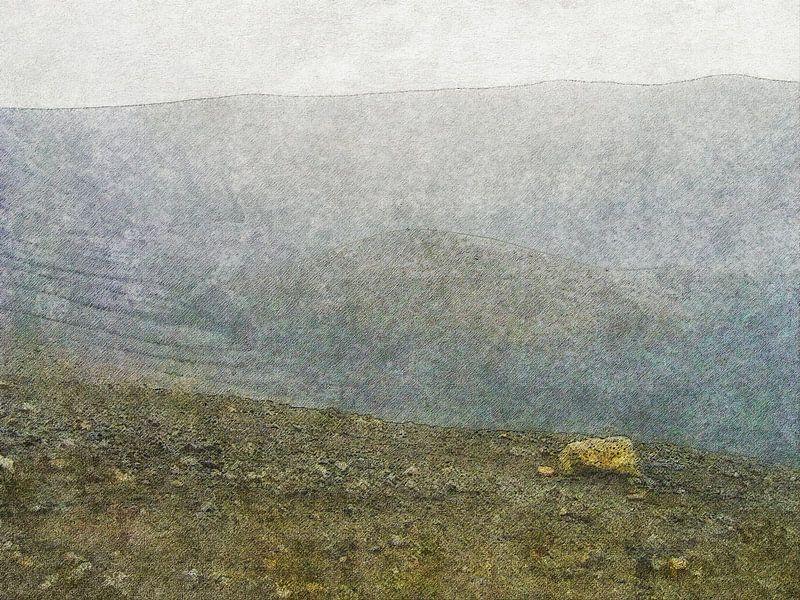 De maankrater van Myvatn, IJsland van Frans Blok