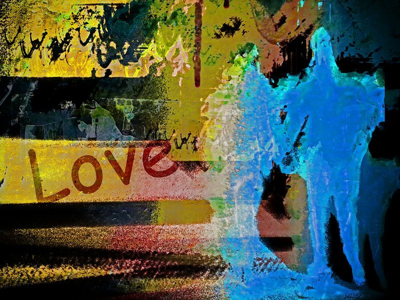 A blue couple and love van Gabi Hampe