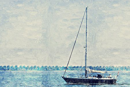 I am sailing von Art by Jeronimo