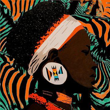 Zulu zebraprint van Irene Jonker