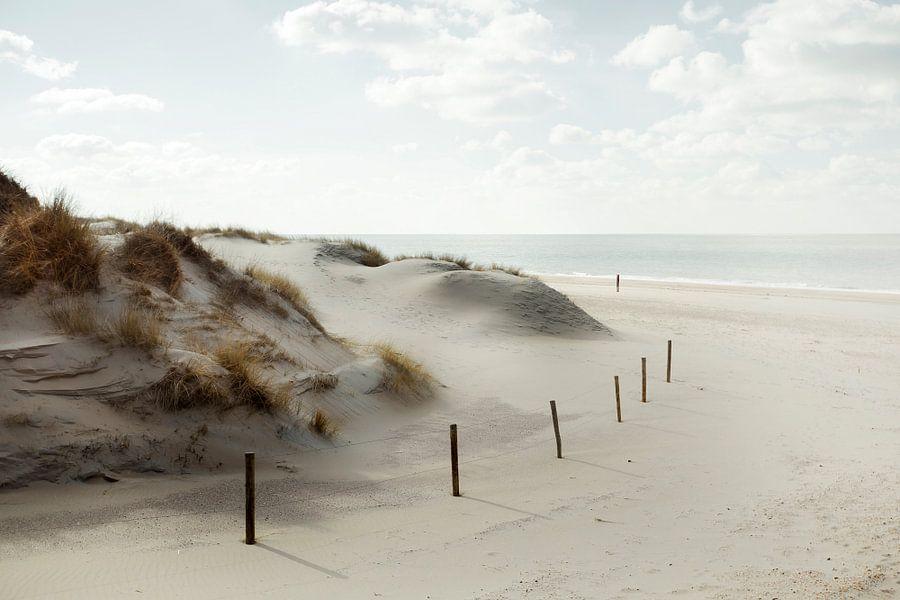 Strand zicht van Claire Droppert