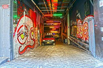 Ingang Garage New York van Tineke Visscher