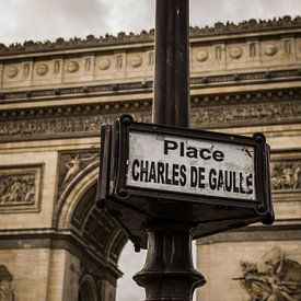 Parijs, Arc de Triomphe, Place Charles de Gaulle van Patrick Verhoef