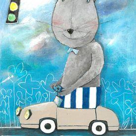 Herr Bär im Straßenververkehr von Atelier BuntePunkt
