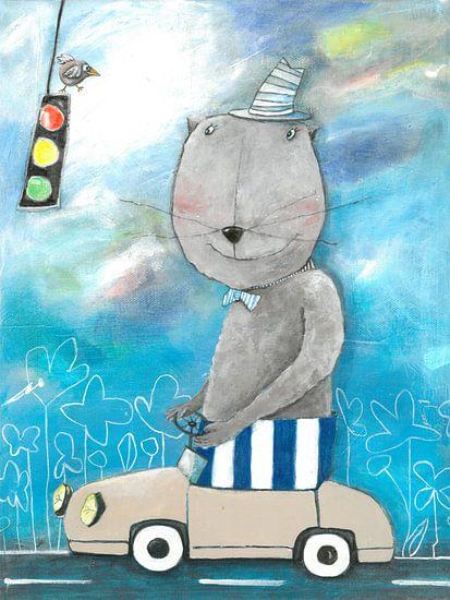 Herr Bär im Straßenververkehr van Atelier BuntePunkt