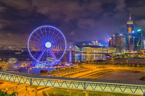 Hong Kong by Night - Skyline and Observation Wheel - 1
