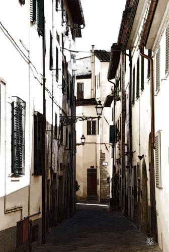 Typisch Italiaanse Straat in de zomer