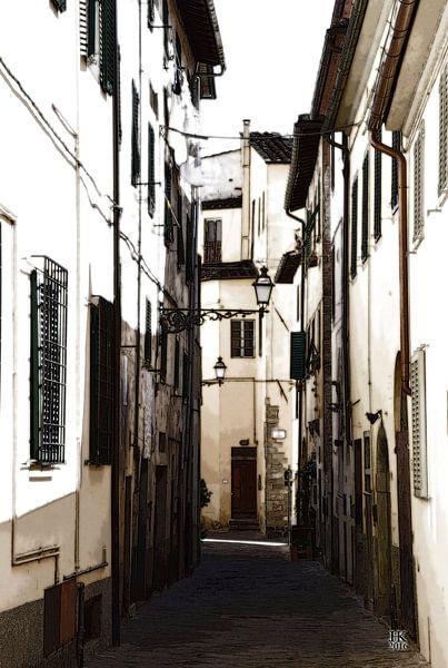 Typisch Italiaanse Straat in de zomer van Hendrik-Jan Kornelis