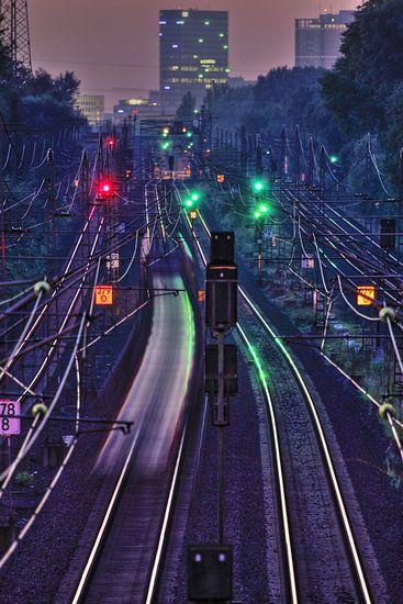 Railway to Hamburg van Marc Heiligenstein