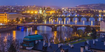 Uitzicht over de oude stad in Praag, Tsjechië - 6 van Tux Photography