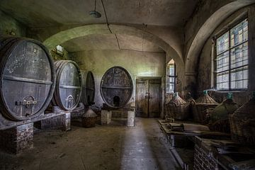 De verlaten wijnkelder  van Frans Nijland