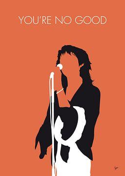 No203 MY LINDA RONSTADT Minimal Music poster van Chungkong Art