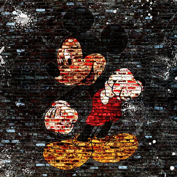 Mickey Graffiti von Rene Ladenius Digital Art