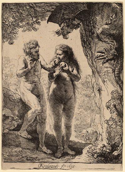 Adam en Eva van Rembrandt van Rijn