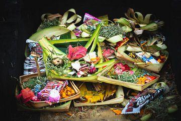 Balinese offers - Canang Sari op Bali | Reisfotografie Indonesië van Travelaar