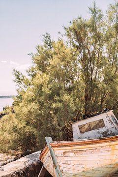 Bateau de pêche à terre sur Patrycja Polechonska