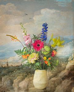 Klassiek bloementafereel