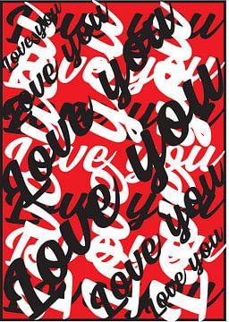 liefde kunstwerk rood von Gerrit Neuteboom