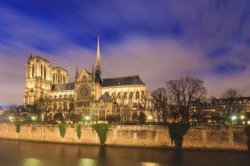 Heure bleue Notre-Dame Paris sur la Seine sur Dennis van de Water