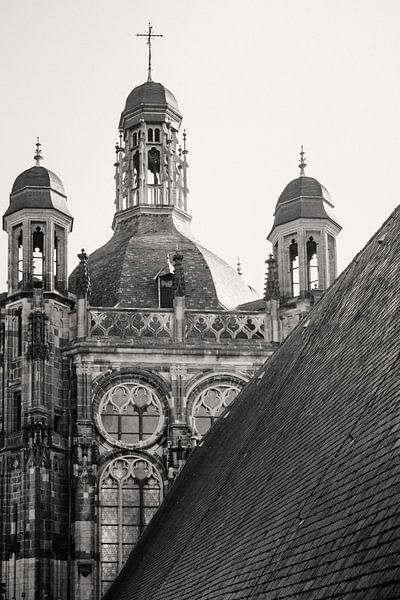 Een close-up van het heilige dak van de Sint-Jan i Den Bosch van mooidenbosch