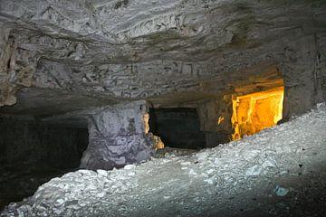 grotten van Zedekiah. De steengroeve van koning Salomo, waar steen werd gedolven voor de eerste en t van Michael Semenov